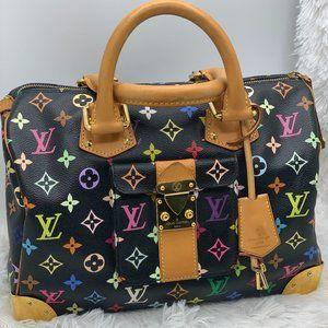 Louis Vuitton multicolore speedy black noir bag